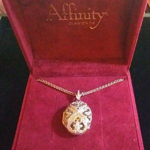 Affinity Diamond Necklace 1/3 ct Filigree …